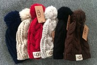 Wholesale Man S Knitted Caps - Women 's winter warm hat knitted hat wool hat