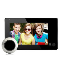 Оптовое - 4.3inch TFT цветной экран Peephole Viewer Doorbell Viewer Цифровая дверь Peephole Viewer Камера Door Eye Видеозапись 145 градусов