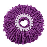 Wholesale Wholesale Microfiber Mop Head - Wholesale-High quality Durable 360 Rotating Head Easy Magic Microfiber Spinning Floor Cloth Mop Head free shipping