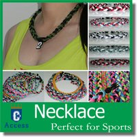 Wholesale China Sports Necklace - baseball 3 ropes tornado sports titanium necklace braided necklace bracelet