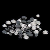 Wholesale Clear Crystal Color Mixed Sizes Hotfix Strass Rhinestones Round Flatback Iron On Glass Stones Appliques For Crafts Garments DIY