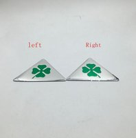 Wholesale alfa romeo 166 - For Alfa Romeo quatrefoil green delta for 4C 8C 147 156 166 159 Giulietta Giulia Spider GT Car Side Fender Emblem Badge Sticker