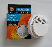 Wholesale Wholesale Wireless Alarm System - White Wireless Smoke Detector System with 9V Battery Operated High Sensitivity Stable Fire Alarm Sensor Suitable for Detecting Home Security
