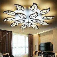 Wholesale Led Controller Living Room - Modern LED Ceiling Lights for living room bedrooms flower shape ceiling lamp LED AC90-265V remote controller LED ceiling lamps