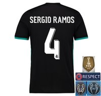 Wholesale Large Size Jerseys - 2017 2018 Real Madrid Third Soccer Jersey 17 18 Away soccer shirt Ronaldo Bale Football uniforms Jerseys shirts Extra large size S-3XL-4XL