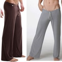 Bamboo Fiber,Microfiber,Spandex pajama bottoms - Sleep Bottoms Men s casual trousers soft comfortable Men s Sleep Bottoms Homewear yoga pants pajama Pants loose Lounge