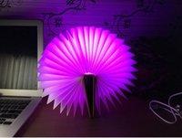 nachtlicht usb hafen großhandel-Led nachtlicht faltbuch licht usb port wiederaufladbare home tisch schreibtisch deckendekor lampe