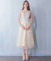 Wholesale Tailor Measurements - Real Model Ankle Length Tailor Made Measurements Crystals Deep V Neck Evening Dresses Formal Party Dresses