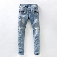 Wholesale Stylish Dot - Stylish Design Mens Jeans Long Straight Whited Colored Cotton Jeans for Spring and Autumn Fashion Jeans for Men jeans-1013