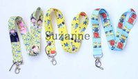 Wholesale Despicable Neck Strap - Free Shipping 100 pcs Hot Cartoon Movie Despicable Me Minions Lanyard For ID Holder Key chains CellPhone Neck Strap Lanyard