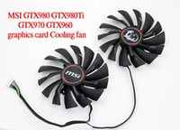 Wholesale Msi Cooler - Free Shipping MSI GTX980 GTX980Ti GTX970 GTX960 GAMING graphics card Cooling fan PLD10010S12HH for msi GTX 980 980Ti 970 960