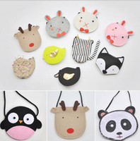 Wholesale Sheep Coin - More 20 Styles Girl Kid's Shoulder Bag Fashion Cartoon Sheep Elephant Deer Penguin Should Bag Children's Cartoon Cat Star Moon Coin Bags