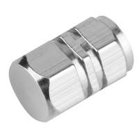 lastikler için valf kapağı toptan satış-Soyulamaz Alüminyum Araba Jant Lastik Vanalar Lastik Hava Kök Caps Hava Geçirmez Kapak gümüş renk sıcak satış