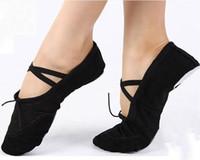 Wholesale Ballet Pointe Dance Toe Shoes - Canvas Ballet Pointe Dance Shoes Fitness Gymnastics Slippers for Kids Adult