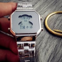 Wholesale Dial Led - Fashion TO style Brand Women's Girls LED Digital display dial Stainless steel band Quartz Watch T05