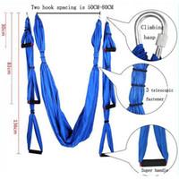 yoga swing großhandel-2016 Fashion Aerial Yoga Hängematte 2.5m * 1.5m Lager 500kg elastische Übung Yoga Hängematte Luftschaukel Anti-Schwerkraft Yoga Gürtel Inversion Trapez