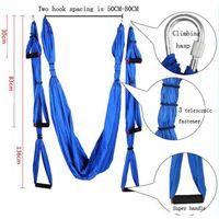 yoga swing achat en gros de-2016 Mode Aerial Yoga Hamac 2.5 m * 1.5 m roulement 500 kg Élastique Exercice Yoga hamac Aérien balançoire anti-gravité Yoga ceinture Inversion Trapèze