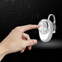 Wholesale Spy Wireless Earphones - Wholesale-Rose Gold Mini Spy Earphone Wireless Bluetooth 4.0 Stereo In-Ear Headset Earbud