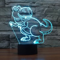 2017 dinosaure Nouvelle nuit 3D Lampe Optical Night Light 10 LED Night Light CC 5V Factory WholesaleEiffel Towe