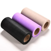 Wholesale Brides Yards - 3 Colors Tulle Roll 6 Inch 25 Yards GirlsTutu Skirt Tulle Polyester Party Birthday Wedding Gift Wrap Craft Wedding Decoration