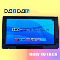 Wholesale Portable Analog Tv Usb - LEADSTAR HD Portable TV 10 Inch Digital And Analog Led Televisions Support TF Card USB Audio Car Television DVB-T DVB-T2