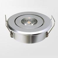 ingrosso luce di mini dimensioni ha condotto-10pcs / lot Mini lampada da incasso a soffitto 1W (dimensione del foro: 45mm), LED Star light Certificato CE RoHS, Faretto a soffitto a LED