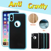 Wholesale Magic Shell - Anti-gravity Case Nano Suction Magic Phone Shell Anti-fall Self-protection Sticky Cover For iPhone X 8 7 Plus 6 6S 5S 5 Samsung Note 8 S8