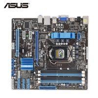 Wholesale Motherboard Ddr3 I7 - Asus P7H55-M USB3 Original Used Desktop Motherboard P7H55-M USB3 H55 Socket LGA 1156 i3 i5 i7 DDR3 16G SATA3 USB3.0 uATX