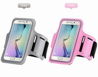 Wholesale Iphone 5s Gym - WaterProof Sport Gym Running Armband Pouch Case Cover For Apple iphone 6s 6 Plus 5 5S Samsung Galaxy S5 S6 edge Note 5