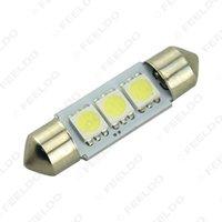 Discount smd led car auto - Gurantee quality White Car Auto 36mm 5050 Chip 3-SMD Reading Lights Festoon Dome LED Light Bulbs