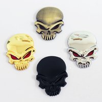 Car Styling 3D 3M Skull Metal Badge Squelette Crossbones Sticker Diable Demon Head Emblem Pour Harley