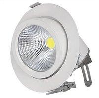 cardan downlight achat en gros de-Usine vente Chaude Réglable 15W 25W 35W Super COB LED Gimbal Embedded led lampe de tronc Round COB allumeur de magasin 85-265V LED Downlight