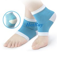 Wholesale Gel Spa Socks - 2 Colors Gel Heel Socks Moisturing Spa Gel Socks feet care Cracked Foot Dry Hard Skin Protector #3953