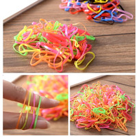 Wholesale Disposable Hair Bands - babys Korean Candy Color Headwear Hair Ring Ropes Ponytail Holder Disposable Elastic Hair Bands for Girls Hair Accessories