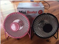 "Wholesale Bathroom Fans Heat - 4"" Home Mini Electric Heater Winter Warm Portable Mini Desktop Electric Hand Feet Heater Warmer US Plug"