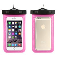 Wholesale cell phone neck cases for sale - Group buy for Iphone plus Waterproof case for samsung galaxy s6 s5 mobile phones waterproof dry cell phone water proof neck pouch bags