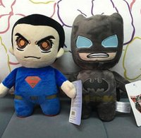 Wholesale Superman Stuff Doll - NEW Batman plush toys Movie Character batman VS superman plush dolls 20cm cartoon Stuffed Animals soft dolls EMS free Xmas gift D391 48