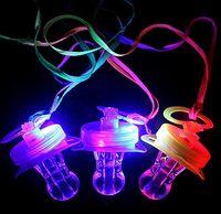 Wholesale Toys Pacifier Flashing - 300PCS DHL LED Flashing Pacifier Whistle Party Supplies Fun Toy Survival Tool Flash Glow Sticks Bar Free Shipping