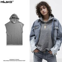 Wholesale Hooded Vests For Women - Men and women in 2017 new simple style vest Hooded lovers Hoodie sweater for men and women
