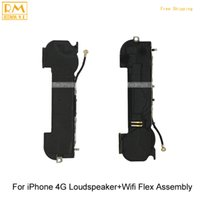 5 pcs / lot D'origine Pour iPhone 4G 4S Haut-Parleur + Wifi Antenne Flex Assemblée Buzzer Sonnerie Réparation Pièces de Remplacement Téléphone Mobile Flex Câble