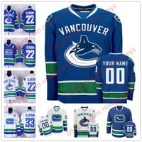 Stitched Custom Vancouver Canucks mens womens youth kid MARCA ANTIGUA royal Blue White Third Hockey sobre hielo Personalizado cheap Any Name Jersey S-4XL