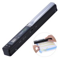Wholesale book scanners - Wholesale- TSN410 Portable Handheld Mobile Color Scanner Handyscan 900dpi Driver-free for Document Photo receipt Book Magzine
