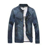 Wholesale Jeans Jacket Wear - 2016 hot sale tops cotton sport jeans jacket for men mens outerwear denim jacket coat cowboy wear
