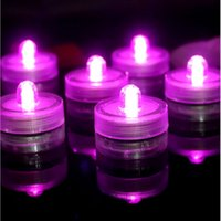12pcs / lot Belle Romantique imperméable à l'eau submersible LED Tea Light Holiday Anniversaire Décoration de mariage Multicolor Led Candle Light