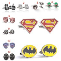 Wholesale superman dresses - Elder Scrolls Doctor who batman superman deadpool Captain America Cufflink Cuff Links for men shirts dress suit Cuff link Christmas gift