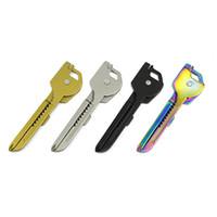 Wholesale utili key - SWISS+TECH 6 In 1 Utili-Key Mini Multi-function Outdoor Gadgets 4 Colors Keyring Pocket Knife Folding Portable Knives Dropshipping