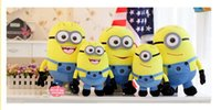 Wholesale Wholesale Plush Minions - New Arrival ME Movie Plush Toy 18cm Minion Jorge Stewart Dave Minions 3D eyes plush toys with tags Children's favorite holiday gifts