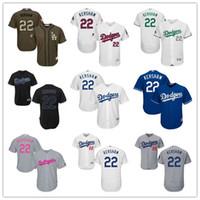 Wholesale Majestic - 2016 LA Dodgers ##22 Clayton Kershaw Black Gray Blue White Celtic Majestic Los Angeles Dodgers MLB Baseball Jerseys