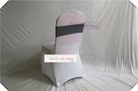 faixa cinza para cadeiras de casamento venda por atacado-Cor cinzenta Frete grátis 50 pcs Spandex Bandas Da Cadeira Spandex Sash Stretch cadeira Lycra bandas para Decoração de Festa de Casamento