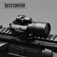 ingrosso fucili laser-Surefire LED Rifle X400 pistola torcia con mirino laser rosso per portata del fucile per la caccia